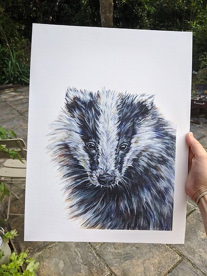 'Billy' Badger Print