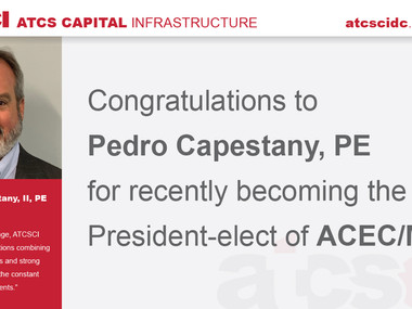 Congratulations to Pedro Capestany, PE on his selection as President-elect of ACEC/MW!