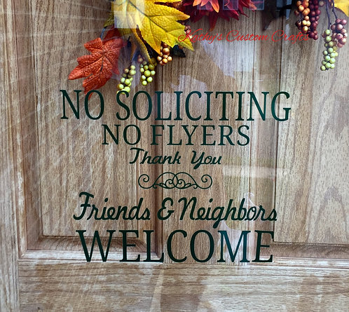 No Soliciting/No Flyers (large)