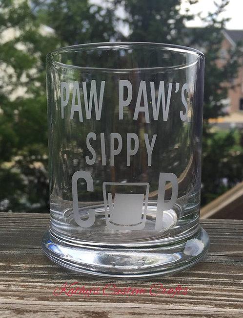 Paw Paw's Rock Glass