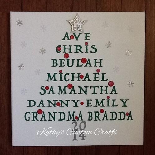 christmas tree name art