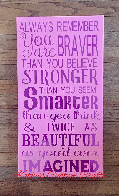 Brave, Strong, Smart