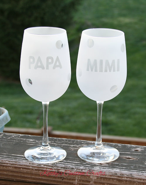 PAPA or MIMI with polka dots