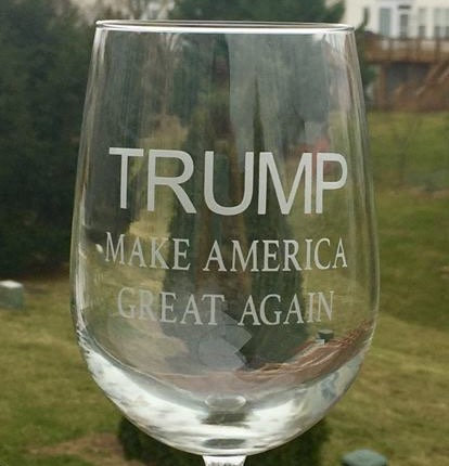 TRUMP MAGA glass