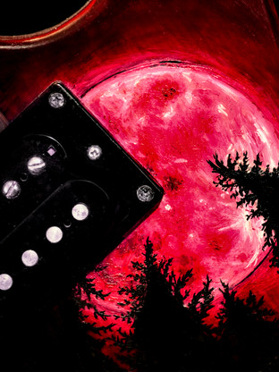 Wendigo guitar (detail)