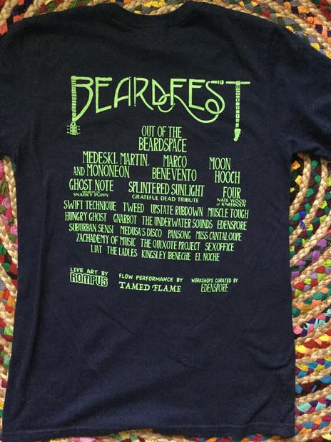 Beardfest 2018 Official Shirt (back)