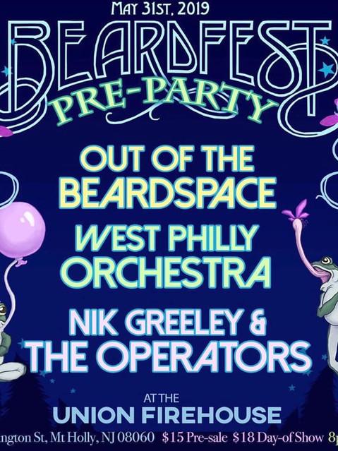 Beardfest 2019 Pre-party Flyer