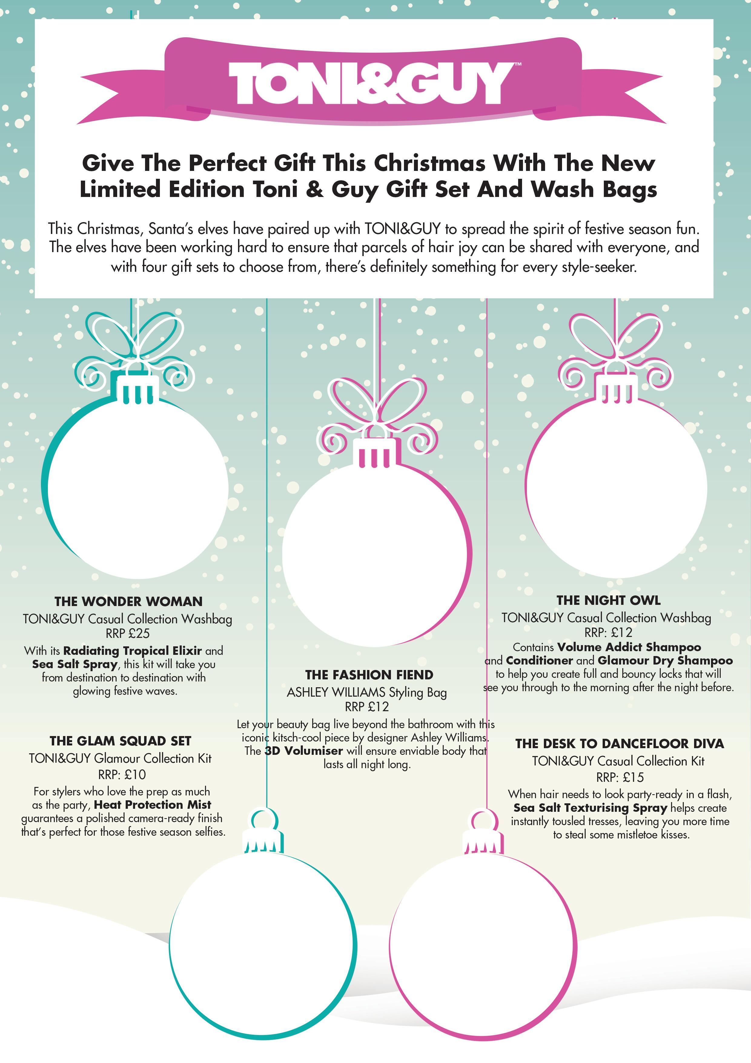 TONI&GUY Christmas brochure template