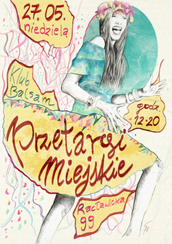 poster for fashion fair, Warsaw