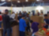 Youth Service work at Food Bank