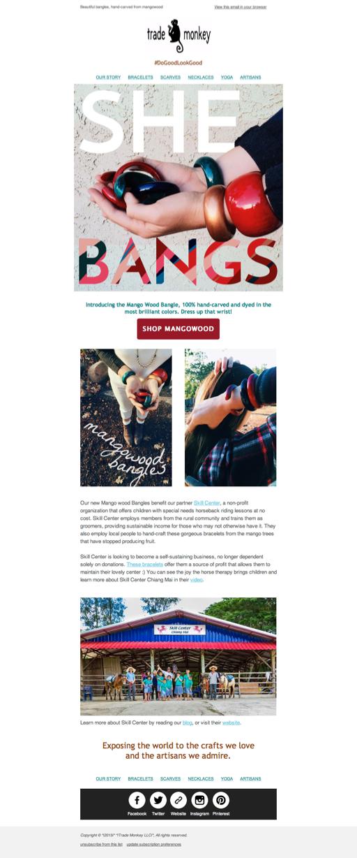 Mangowood Bracelet Email