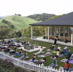 Yoga in the front yard