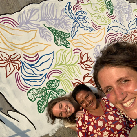 Chitwan mural with didi
