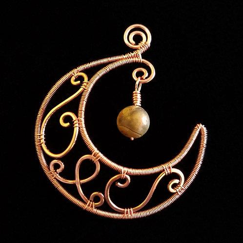 Woven Copper Moon w/ Stone