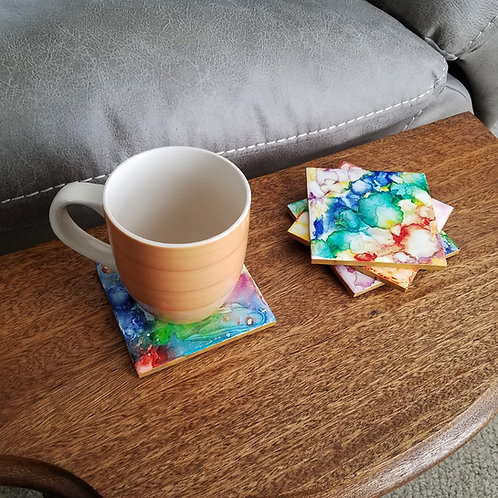 Tie Dye Coaster Set