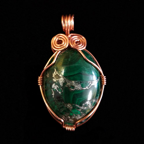 Elegant Copper and Green Jasper