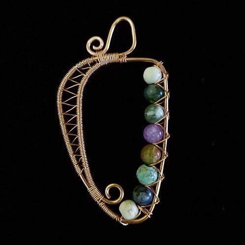 Woven Harp w/ Multi Color Stone