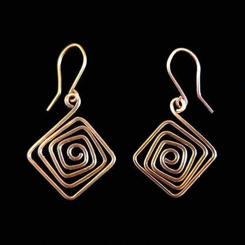 Crazy Square Earrings