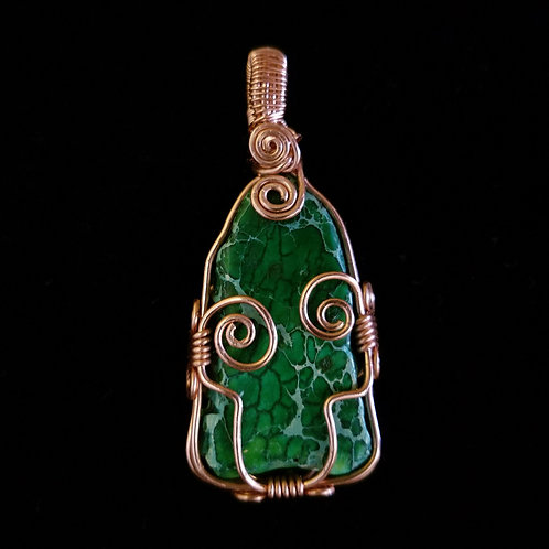Freestyle Copper and Green Jasper Pendant
