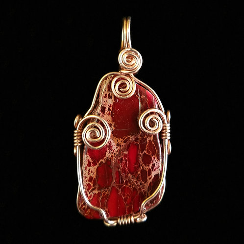 Freestyle Copper and Red Jasper Pendant