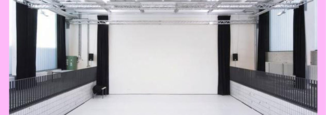 The performance venue --Uferstudios Berlin -- was selected for an optimal immersive experience between the dance and virtual environment. The audience will be seated within and around the space.