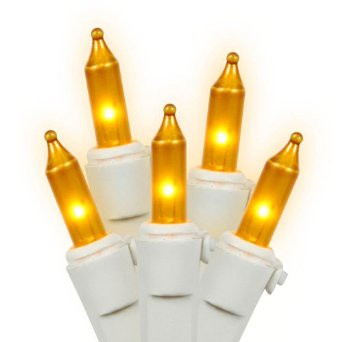 steady white wire gold christmas lights