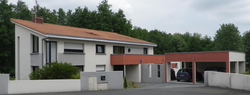 Extension par un double garage