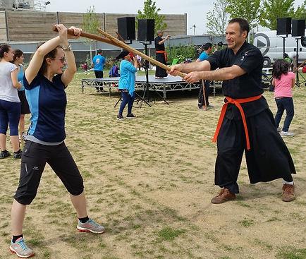 initiation au haidong gumdo sabre coréen à femme en sport paris 17 kyuk gum