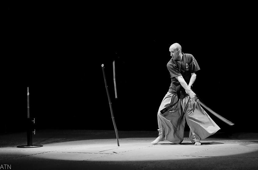 Haidong Gumdo - Démonstration coupe de bambou