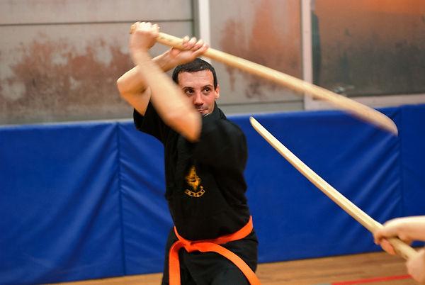 kyuk gum exercice de combat au sabre
