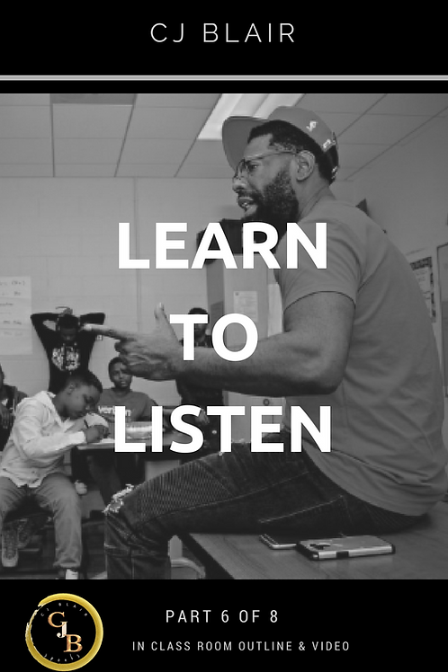 Part 7: Learn to Listen PRE-ORDER