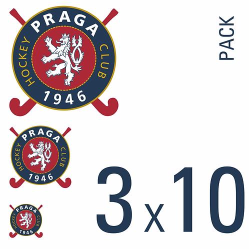Sada samolepek logo HC 1946 Praga 3x10 pack