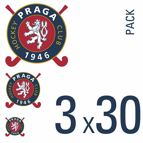 Sada samolepek logo HC 1946 Praga 3x30 pack