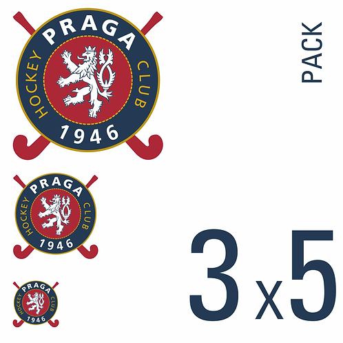Sada samolepek logo HC 1946 Praga 3x5 pack
