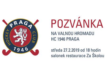 Pozvánka: Valná hromada HC 1946 Praga
