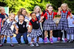 Students in Uniform at St. Luke School