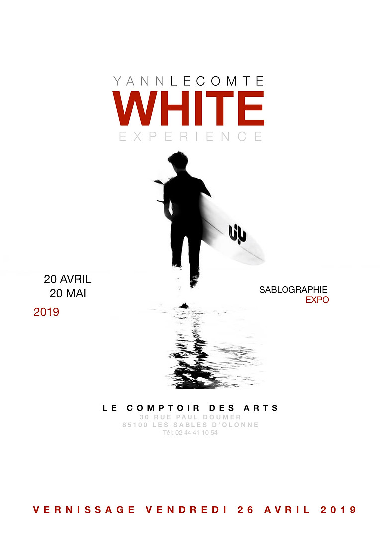 Exposition Yann Lecomte - Sablographie- WHITE-Les Sables d'Olonne