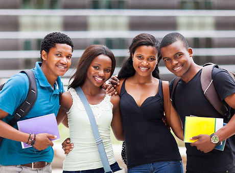 group of happy african college friends.j