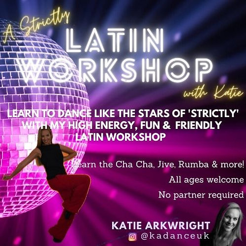 'Strictly' Latin Workshop with Katie Arkwright for CDC Dance