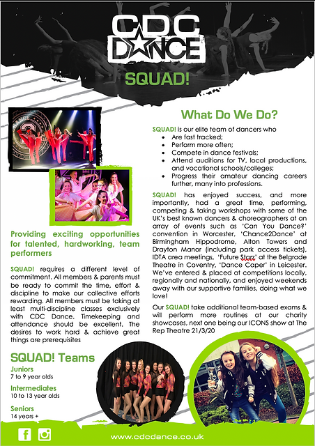 CDC Dance SQUAD! Information