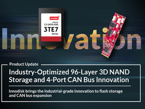 Innodisk Brings 96-Layer 3D TLC Innovation to Enterprise and Industrial Applications