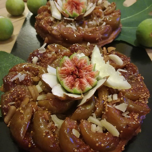 Tarte tatin aux figues / portion