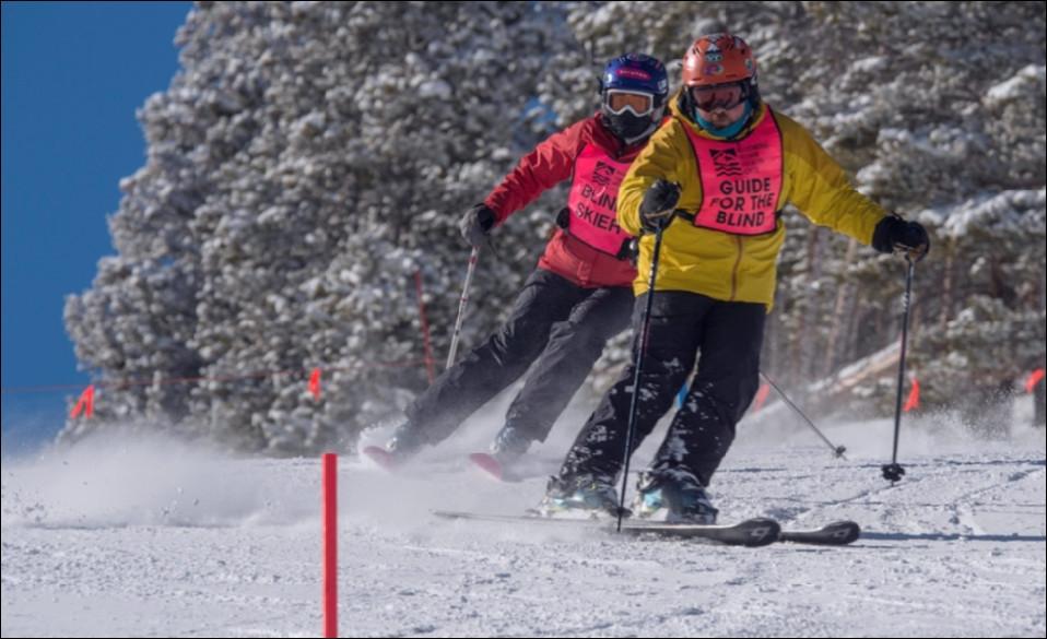 Abby and me ski racing.