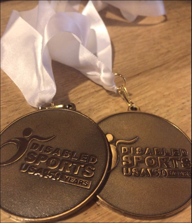 Disabled Sports USA medals