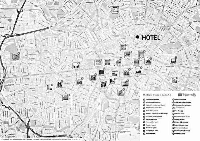 Mapa Berlim