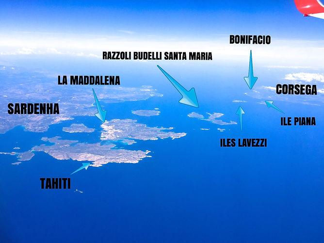 Mapa Sardenha e Córsega