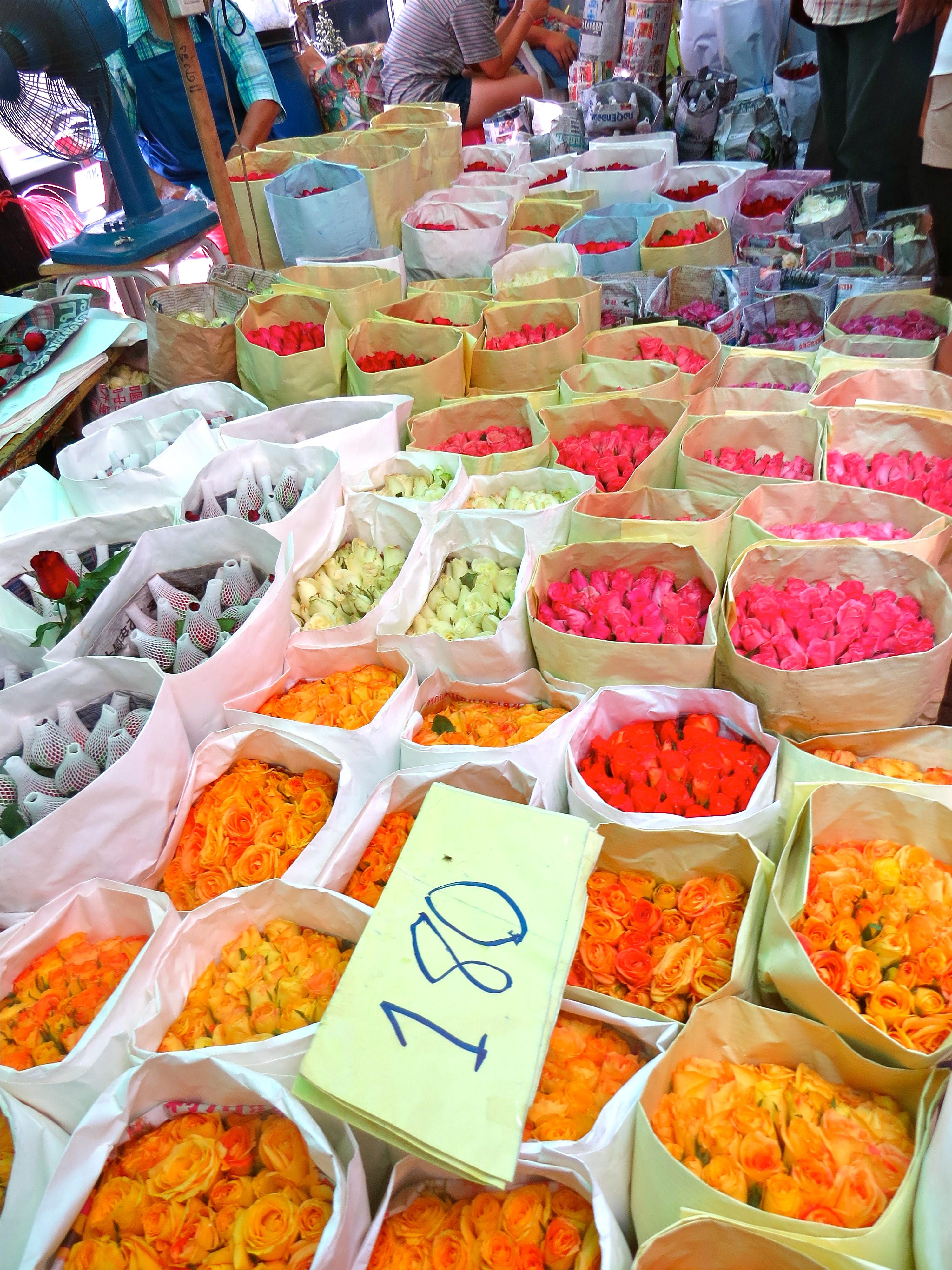 Mercado das flores Bangkok