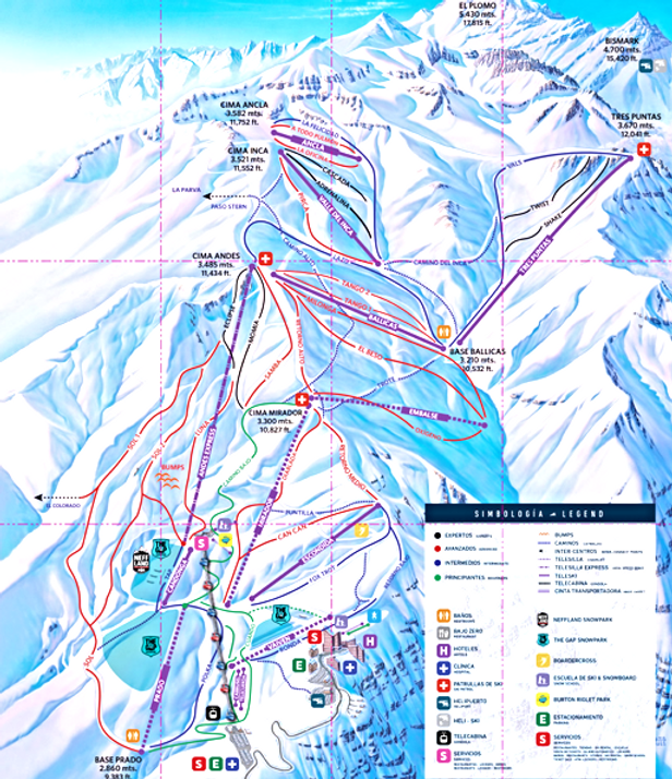 pista valle nevado