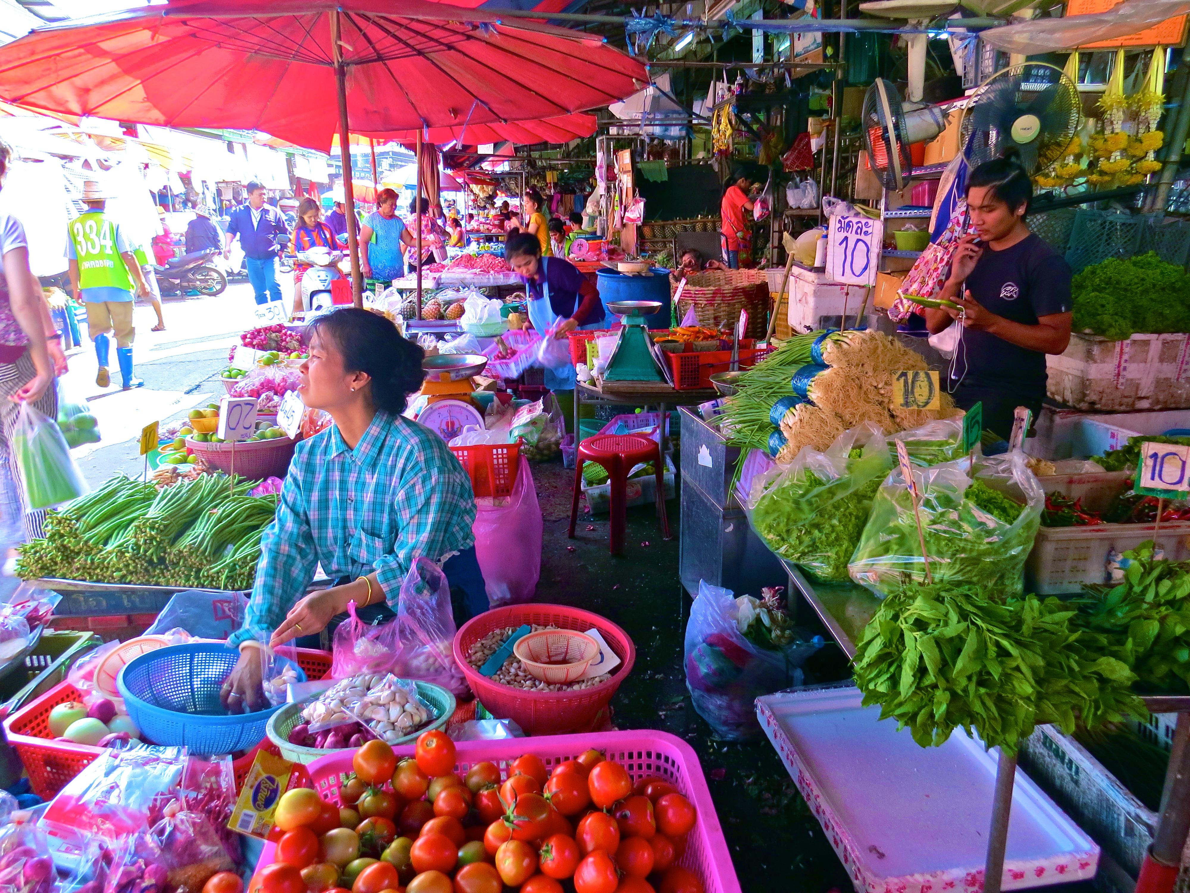 Mercado de rua Bangkok