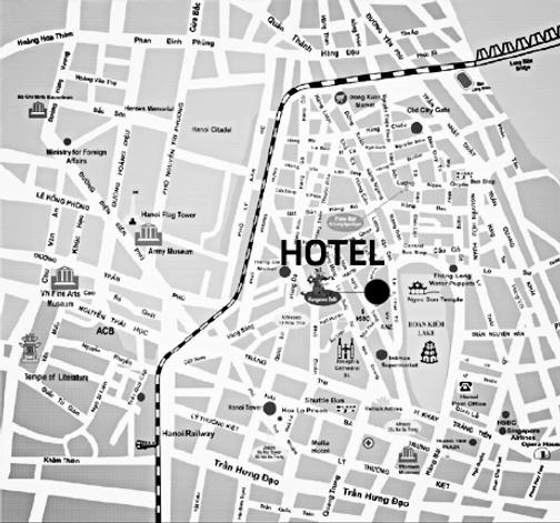Mapa Hanói Vietnã